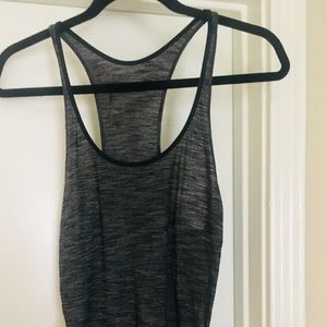 Heather Black Racerback Tank